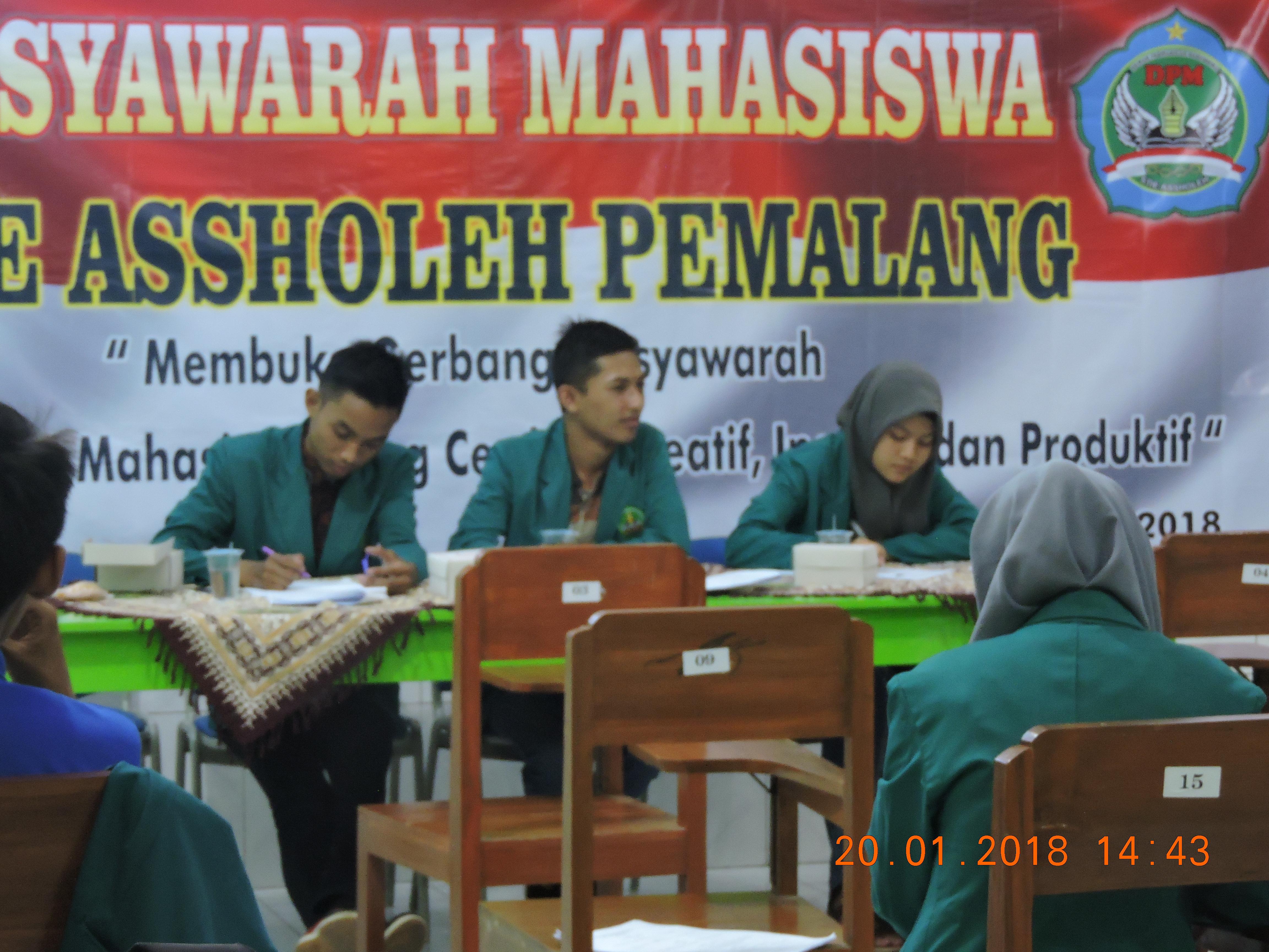 Musyawarah Mahasiswa 20 Januari 2018